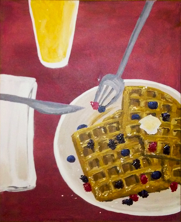 waffles and beer