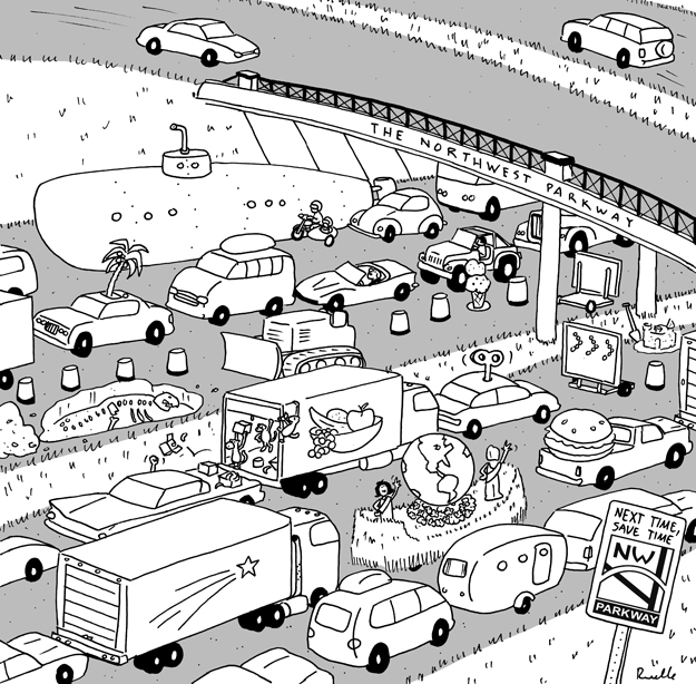 northwest parkway comic cartoon coloring page