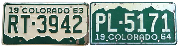colorado license plates