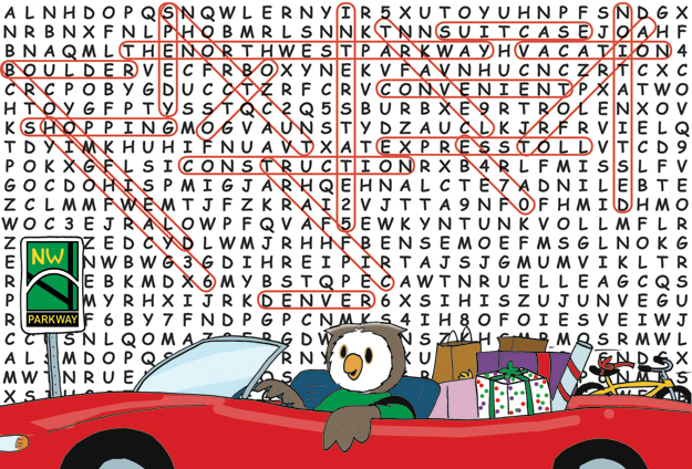 northwest parkway comic cartoon word search
