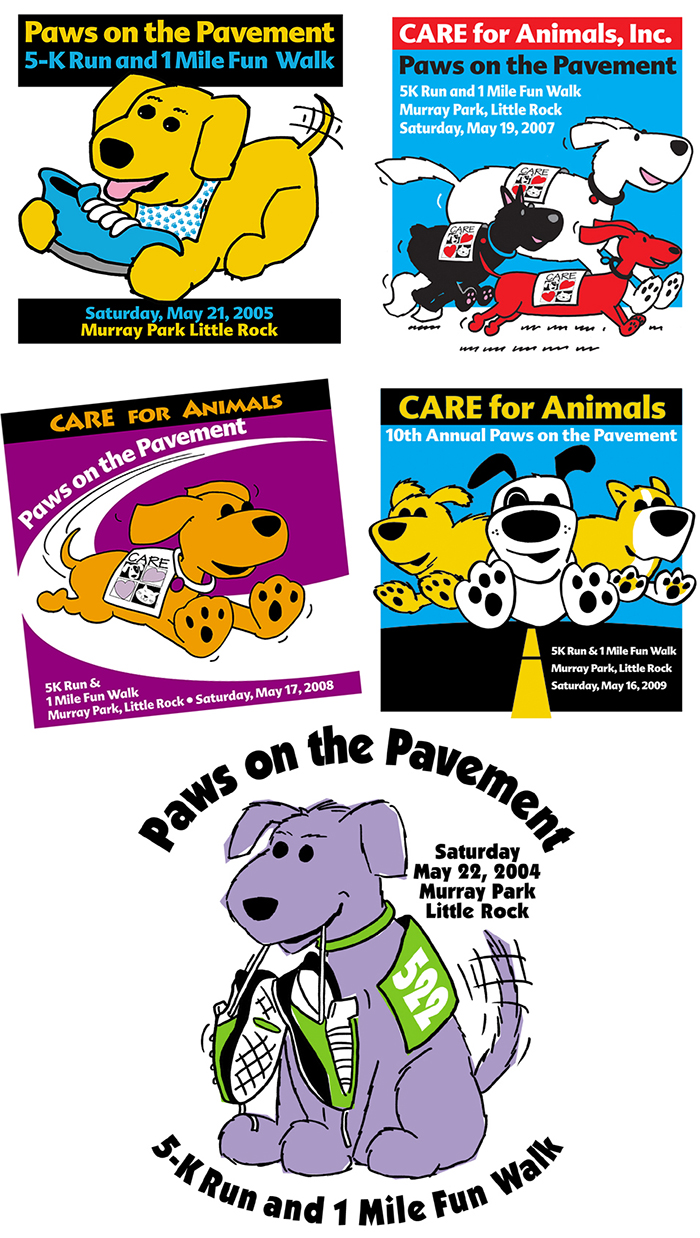 paws on the pavement logos