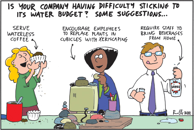 water conservation comic cartoon