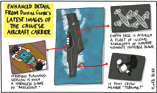 chinese aircraft carrier comic cartoon